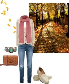 """""""walk on autumn leaves"""" by shell-syue on Polyvore"""