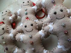 Adorno de navidades en fieltro