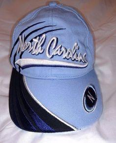NORTH-CAROLINA-Hat-Tar-Heels-Blues-White-N-Baseball-Cap-100-Cotton-Collegiate