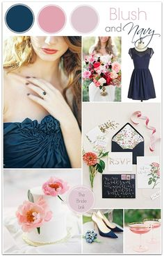 Blush and Navy Wedding Inspiration Inspire Bridal Boutique www.inspirebridalboutique.com Event Design Specialists