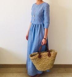 Ma première robe longue & patron Mystère Aime comme Marie – Les Inspirations de Julie