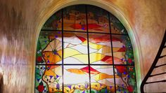verrière  2 Les Artisans, Biarritz, Painting, Lightbox, Stained Glass, Painting Art, Paintings, Drawings
