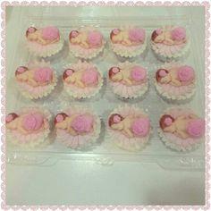 Baby pink cupcake