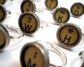 typewriter key rings.... i like
