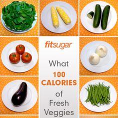 100-Calorie Portions of Fresh Summer Veggies