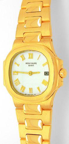 Foto 1, Patek Philippe Nautilus, Damen-Armbanduhr, Gold Geprüft, U1787 | juwelier-haeger.de