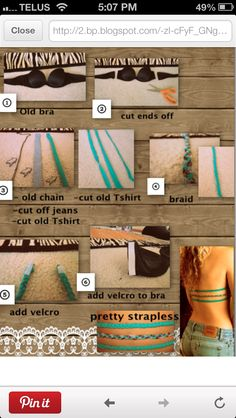 DIY Summer bra for backless shirts
