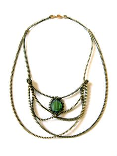 The Tiaa Zipper Necklace by ReborneJewelry on Etsy, $95.00