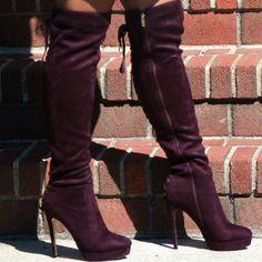 Luichiny Back Lace Up Platform Boots