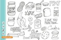 Check out Peanut Butter Digital Stamps by FishScraps on Creative Market