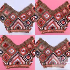 Crochet Clothes, Crochet Top, Crochet Patterns, Instagram, Bikinis, Women, Fashion, Crochet Batwing Tops, Beauty