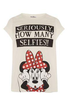 Primark - Minnie How MAny Selfies T-Shirt