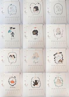 Wandkalender - Kalender 2015 Illustration A4 - ein Designerstück von baer-von-pappe bei DaWanda