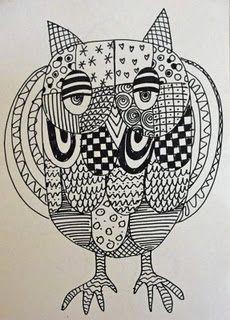 Owls - Line Study