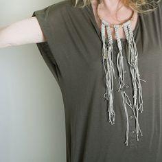 Eco-friendly Necklace/ Crochet Necklace/ by OwnStudiobyEfrat