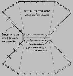 Viking tent pattern  I made it up when I made my 3 but good to have a pattern for the next one.