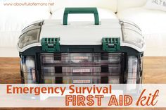 Create a first aid kit for your home, car or place of employment. You never know when an emergency will arise and it's better to be prepared than not. Get the details on A Bowl Full of Lemons