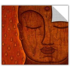 Gloria Rothrock Awakened Mind Removable Wall Art Graphic, Size: 18 x 18, Brown