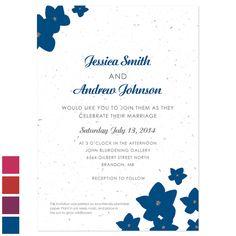 Fresh Flowers Plantable Wedding Invitations: Petite Garden