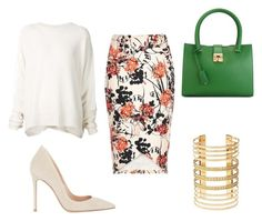 """Street outfit"" by luckalucia on Polyvore featuring URBAN ZEN, Salvatore Ferragamo, Gianvito Rossi and Charlotte Russe"