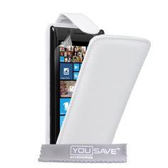 YouSave Nokia Lumia 930 Leather-Effect Flip Case - White   Mobile Madhouse