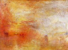 Turner - zonsondergang boven een meer