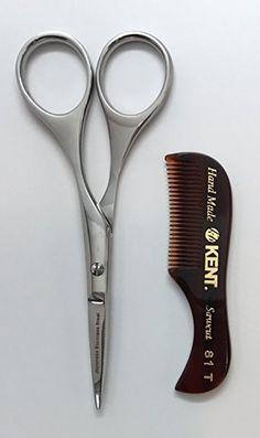 Mustache   Beard Trimming Scissors with Kent 81T Beard Comb Review Beard  Trimming b69d824c62d