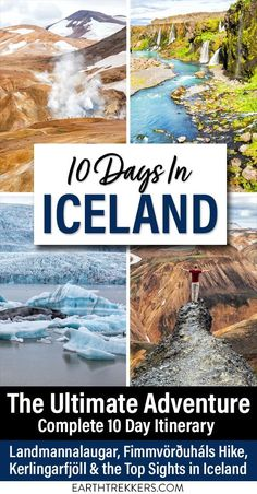 Iceland Adventure Itinerary: 10 epic days in Iceland. Visit Landmannalaugar, Kerlingarfjoll, Reykjavik, Golden Circle, Glymur Waterfall, hike the Fimmvorduhals trail, and learn how to add on the Laugavegur trek. #iceland #itinerary #adventure #landmannalaugar