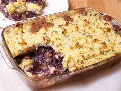 Herfst favoriet: ovenschotel met stoofvlees en rodekool!