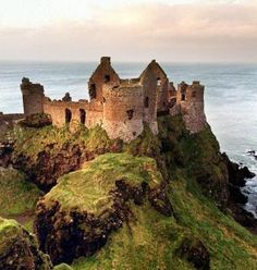 St. Patrick's Day - Famous Haunted Irish Castles Sunrise over Dunluce - photo credit: belfasttelegraph.co.uk