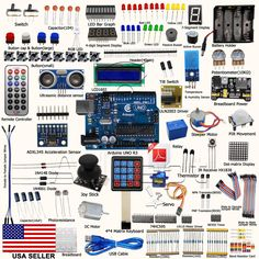 UNO R3 Ultimate Starter Kit for Arduino UNO R3 LCD1602 Processing for Beginner  #Adeept