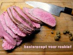 Rosbief braden op lage temperatuur - De voedzame koken !