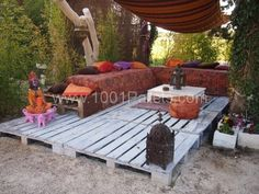 0071 600x450 My pallets deck in pallet garden  with Terrace Sofa Pallets Outdoor Lounge