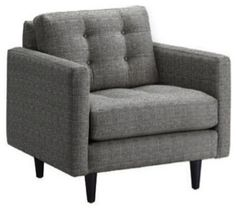 $688 Beverly Chair, Smoke - contemporary - armchairs - Apt2B