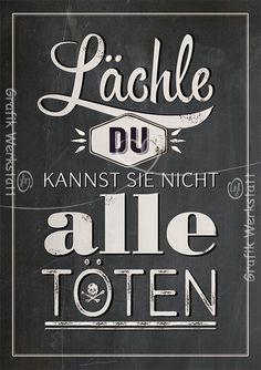 Lächle - Postkarten - Grafik Werkstatt Bielefeld On my wall already. / Hängt schon an der Wand.