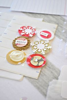 make some cute embellishments using scraps and bits and pieces! | the pink couch