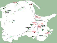 Zamki Polski - Mapa woj. pomorskiego - Zamki Polskie