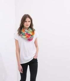 PRINTED SCARF from Zara