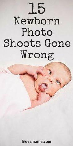 15 Newborn Photo Shoots Gone Wrong