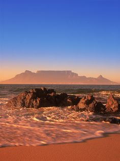 South Africa - Cape Town, Table Mountain. .
