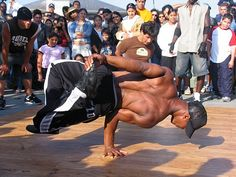 Yes-break dancing was all the rage and something I could never do.