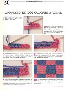 Paso a paso: Como hacer jacquard en el tejido crochet | Tejido Facil