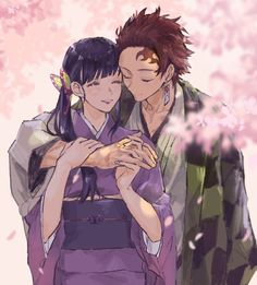 Anime Demon, Manga Anime, Anime Art, Demon Slayer, Slayer Anime, Cute Anime Coupes, Animes Yandere, Couple Illustration, Anime Girl Drawings