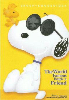 Joe Cool, Snoopy And Woodstock, World Famous, Peanuts, Beagle, The Unit, Board, Fictional Characters, Moon Art