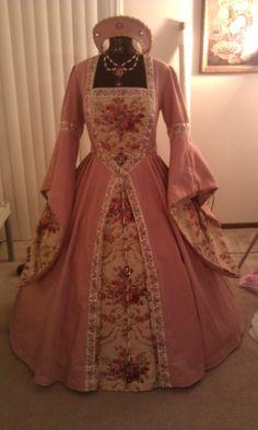 Custom Pink Tudor Gown | Tamela Lynne's