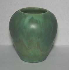 "P.R.P. Paul Revere Pottery 4"" Green Cabinet Vase SEG Arts & Crafts Saturday Eve"