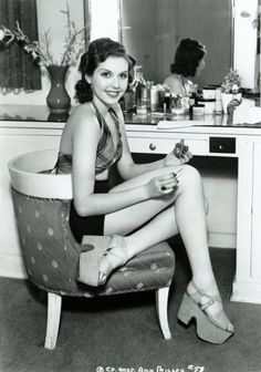 Ann Miller, check out the shoes....just amazing what comes back in style.