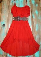 High Low Southwest cowgirl dress with western belt $29.99