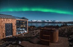 Gorgeous Glass Cabin with Northern Lights Views near Reykjavik, Iceland Northern Lights Viewing, Northern Lights Iceland, See The Northern Lights, Jacuzzi, Reykjavik Island, Tiny House France, Melbourne, Glass Cabin, Secluded Cabin
