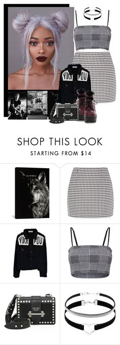 """""""701->""""Back To You"""" by Louis Tomlinson ft Bebe Rexha and Digital Farm Animals"""" by dimibra ❤ liked on Polyvore featuring iCanvas, Fashion Union and Prada"""